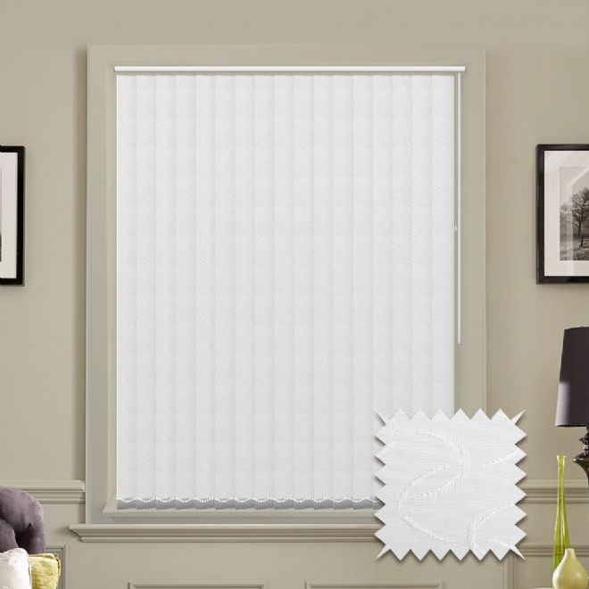 Vertical blinds - Made to Measure vertical blind in Lapwing White - Just Blinds